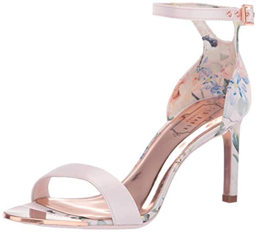 9ea1652ef Lyst - Ted Baker Ulanii Heeled Sandal in Pink