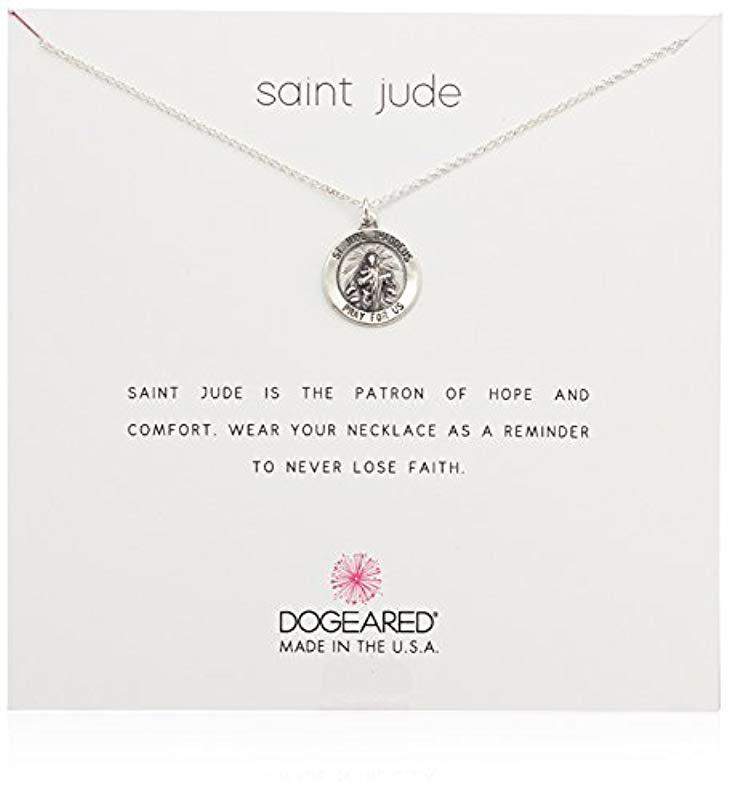 Lyst - Dogeared St. Jude Necklace b898f74bd86f8