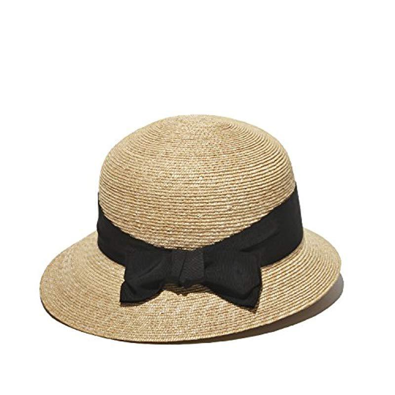 175d973e6d6 Lyst - Gottex Darby Fine Milan Straw Packable Sun Hat