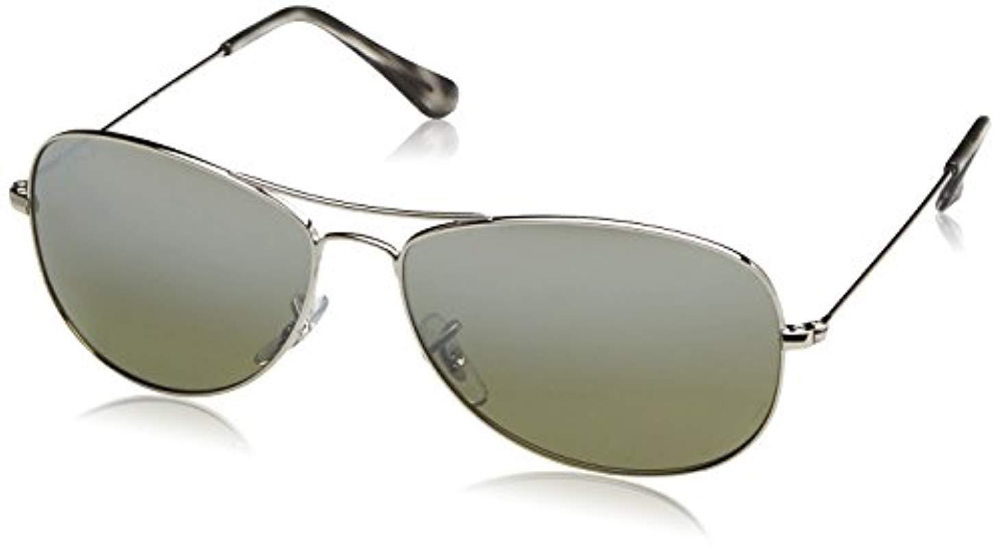 4ee739a91befa Lyst - Ray-Ban Rb3562 Chromance Lens Pilot Sunglasses in Metallic ...