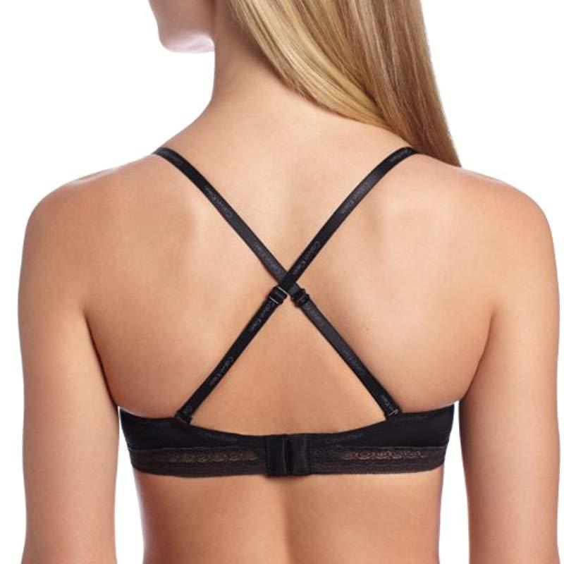 bcb5aa7e243 Lyst - Calvin Klein Perfectly Fit Sexy Signature Bandeau Bra in Black