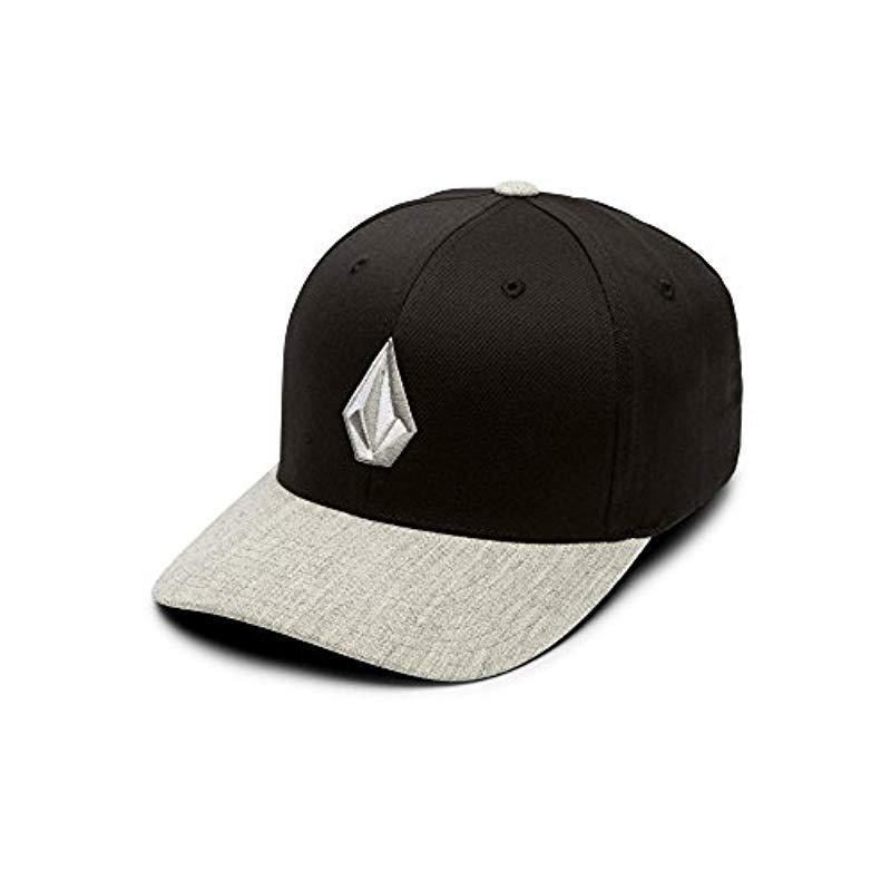official photos ce48a c6286 ... low price volcom. mens black full stone heather flex fit hat 54c5f f694d
