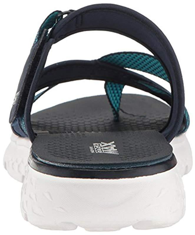 bc8c10e6 Skechers Performance On The Go 400 Discover Flip Flop in Blue - Lyst