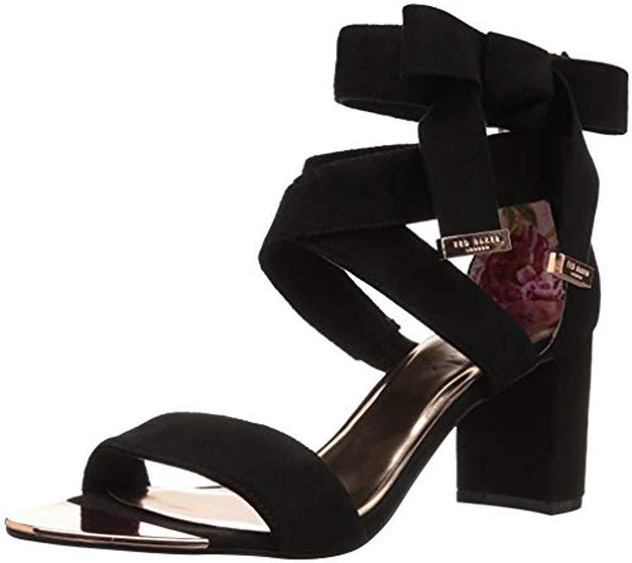 02db0c7abf8b Lyst - Ted Baker Noxen 2 Heeled Sandal in Black