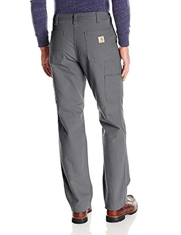 b1eaccecf9c Lyst - Carhartt Relaxed Fit Washed Duck Work Dungaree Pant in Gray for Men