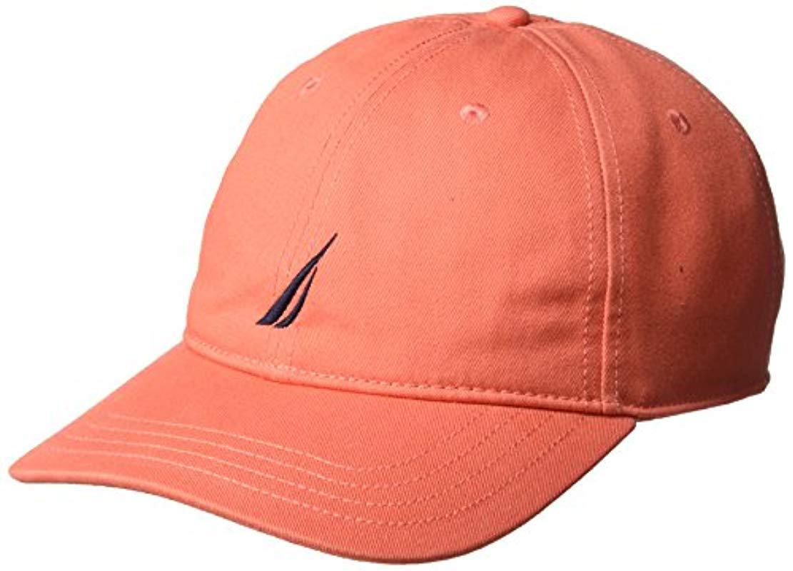 fb9e23a2b0d824 Lyst - Nautica Classic Logo Adjustable Baseball Cap Hat in Pink for Men