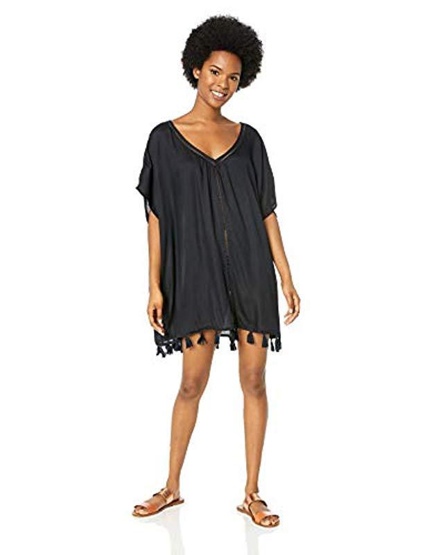 9107d12786 Roxy - Black Ponco Swim Cover-up Dress - Lyst. View fullscreen