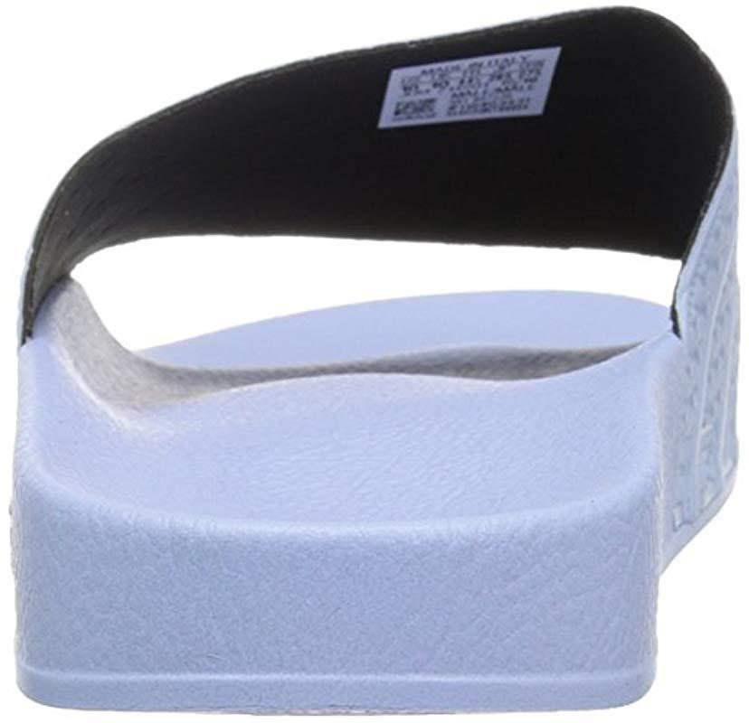 7ab0c58f1d1c Adidas Originals - Blue Adilette Slide Sandal for Men - Lyst. View  fullscreen