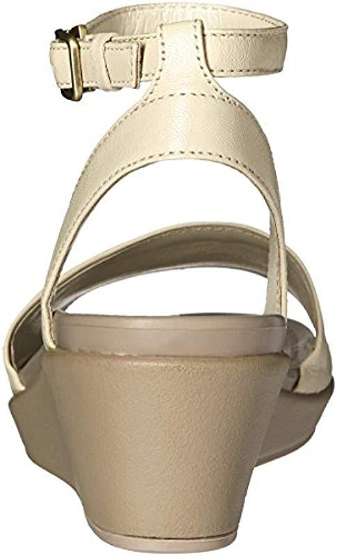 0c8ce38ce531 Crocs™ - Multicolor Leigh-ann Ankle Strap Leather Wedge Sandal - Lyst. View  fullscreen