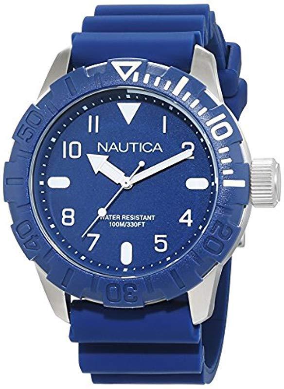 11 Nautica Analog Armband Quarz Uhr Mit Silikon 6 Herren In 56086e MSjqUVLzpG