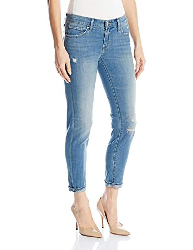 05ef6bdbed79 Lyst - Levi s 711 Skinny Ankle Jeans in Blue
