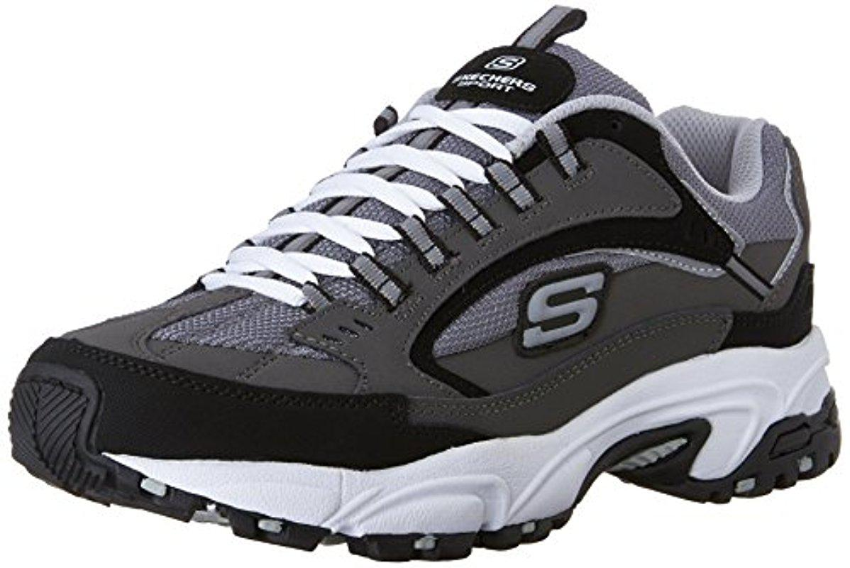 Skechers. Men's Black Sport Stamina Nuovo Cutback Lace-up Sneaker
