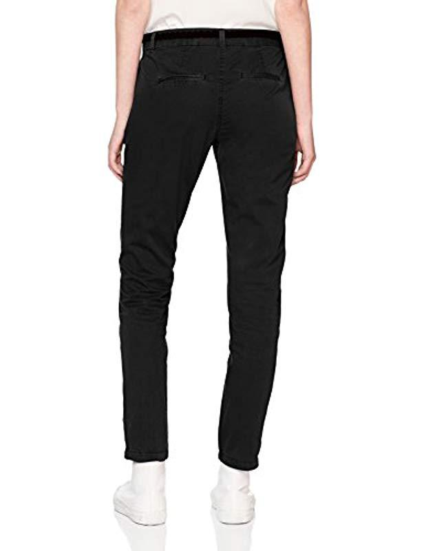 Vero Moda Vmflame Nw Chino Pants Noos Trouser in Black - Lyst 51013100b5fc