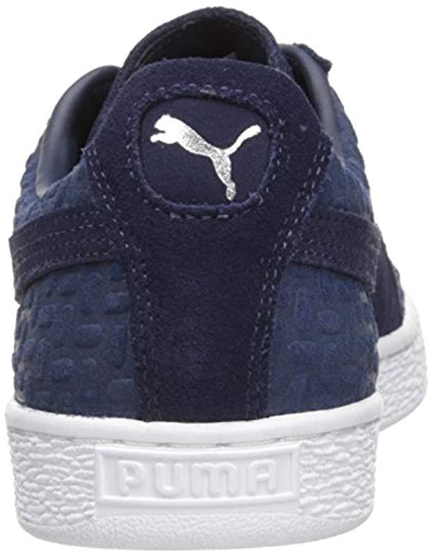 3608fef15aac Lyst - Puma Suede Classic Emboss V2 Fashion Sneaker in Blue for Men