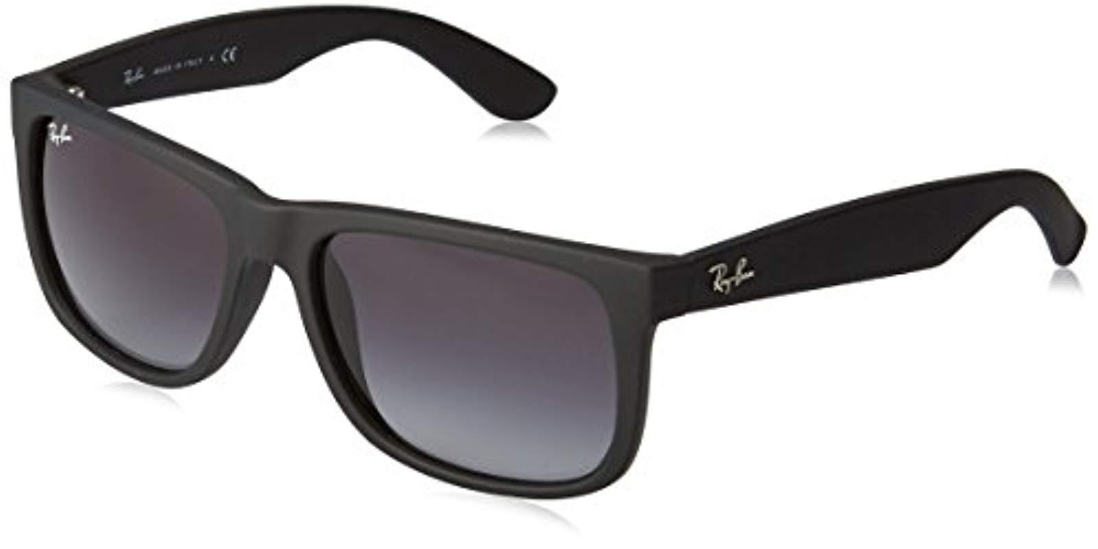 53bc3f9071 Ray-Ban Justin Sunglasses In Rubber Dark Violet Rb4165 602488 55 in ...