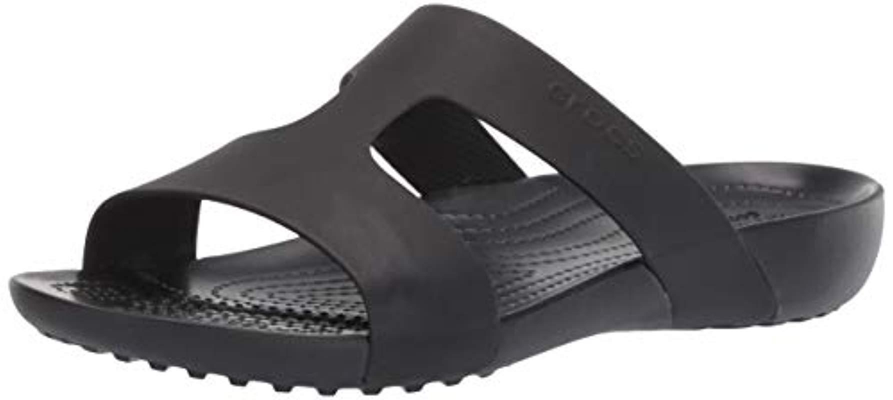 fd0c64487c89b Crocs™ Serena Slide W Heels Sandals in Black - Lyst