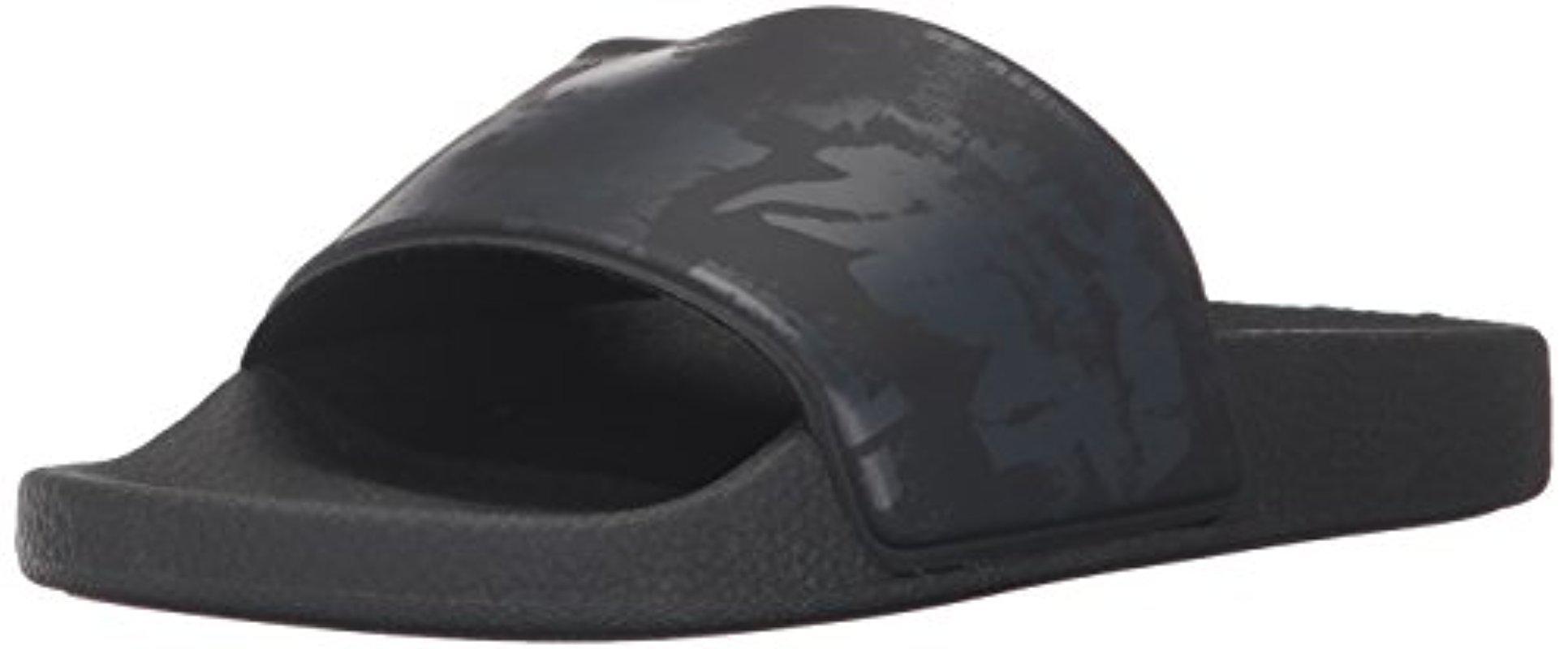Men's a-Lohha SA-Maral Slide Sandal Black/Anthracite 9 M US
