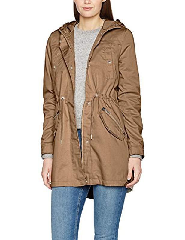 Vero Moda Coat in Natural - Lyst 34d91d3953be