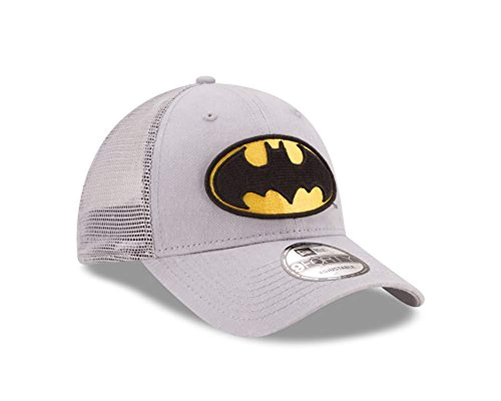 878dd621981 Lyst - Ktz Batman Trucker Washed 9forty Snapback Hat Cap Grey yellow ...