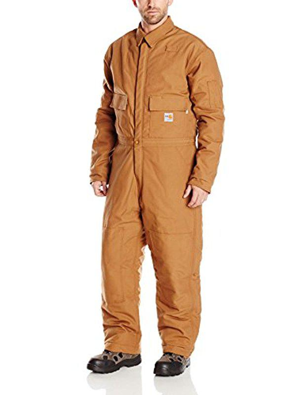 f2b3e54e0945 Lyst - Carhartt Flame Resistant Duck Coverall in Brown for Men