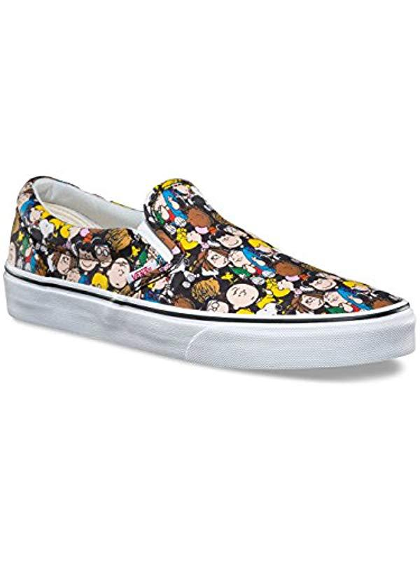d79a56e20011 Vans Unisex Adults  Peanuts Classic Slip-on Trainers in Blue - Lyst