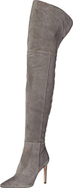 e9753ad6f0674 Lyst - Sam Edelman Bernadette Pointed-toe Over-the-knee Boot in Gray