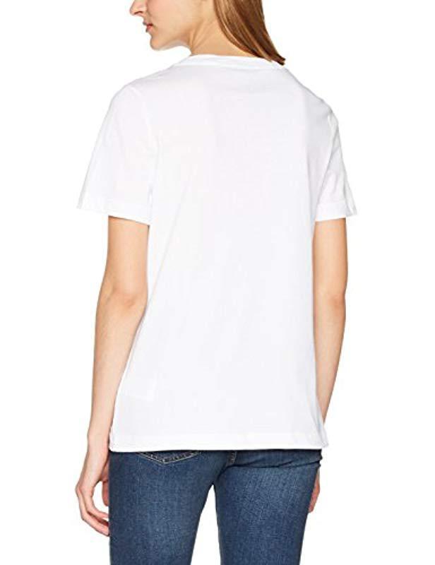 Tommy Hilfiger Logo Script Prt Tee Ss T-shirt in White - Lyst 84b377a80d4e