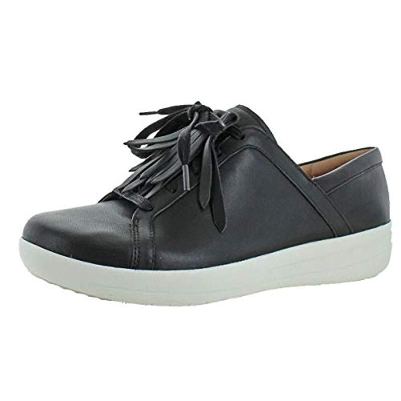 72157fab645b31 Lyst - Fitflop F-sporty Ii Lace Up Fringe Sneakers in Black