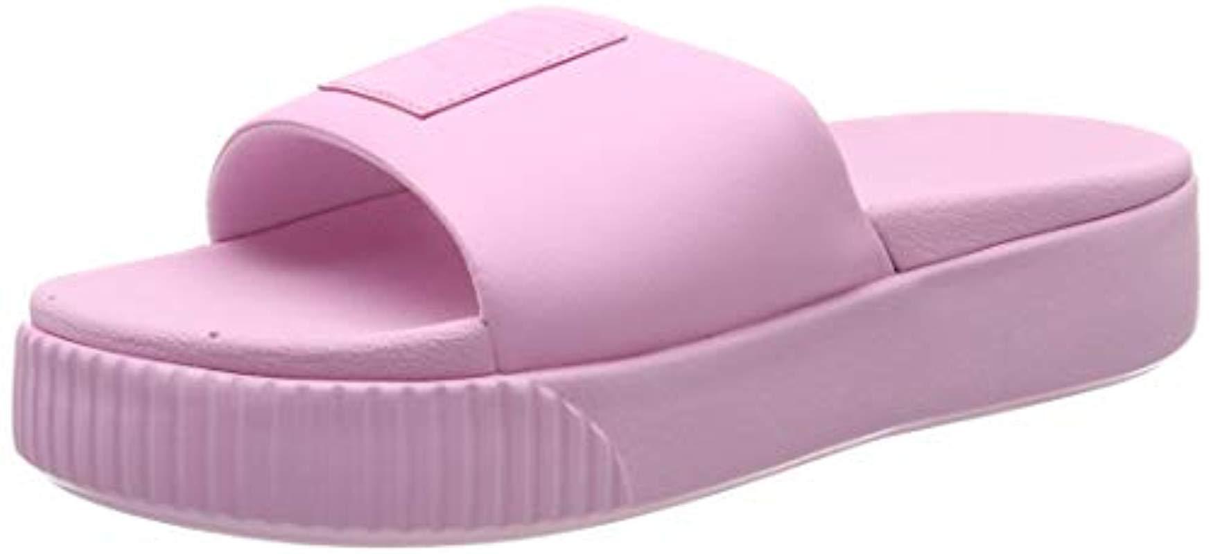 947d4263a57f Puma Platform Slide Sandal in Pink - Lyst