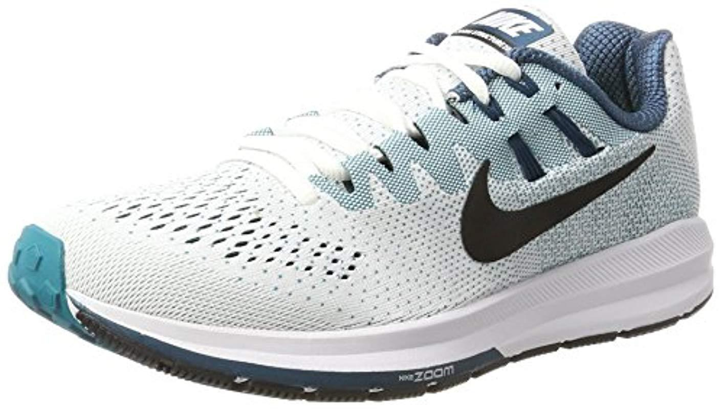 f4830b7b7e6 Nike  s Air Zoom Structure 20 Running Shoes in White for Men - Save ...