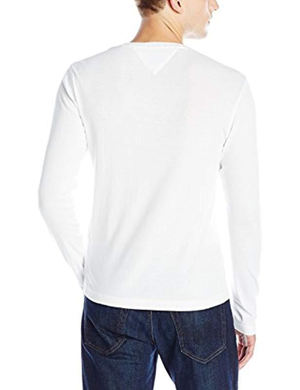 68142ecd Lyst - Tommy Hilfiger Denim Long Sleeve T Shirt Original Crewneck in White  for Men