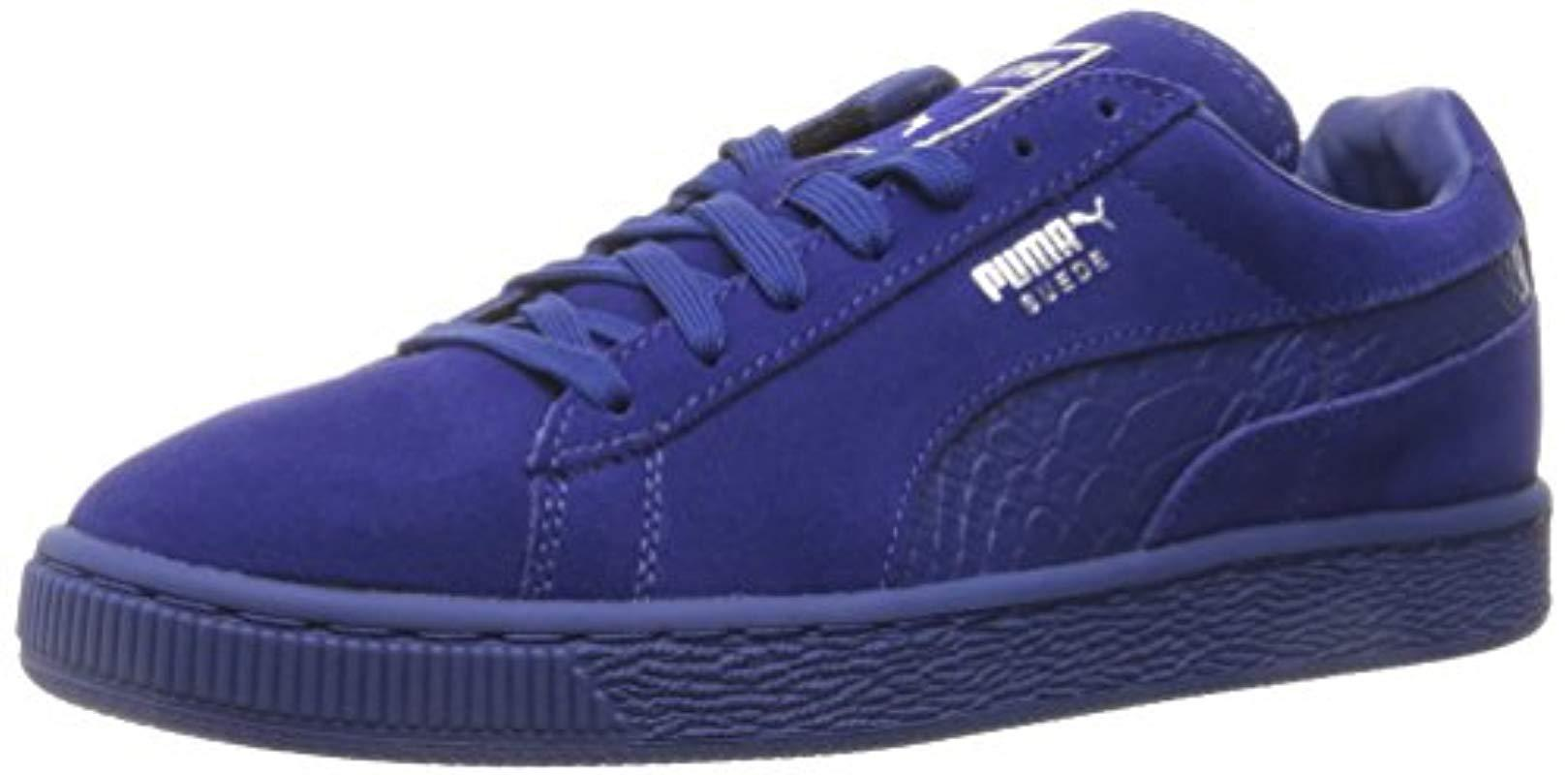 Lyst - PUMA Suede Classic Mono Reptile Fashion Sneaker in Blue for ... 375895b2a