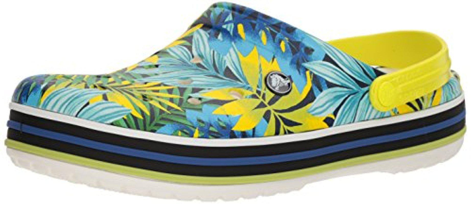 Unisex Crocband Tropical Graphic Clog