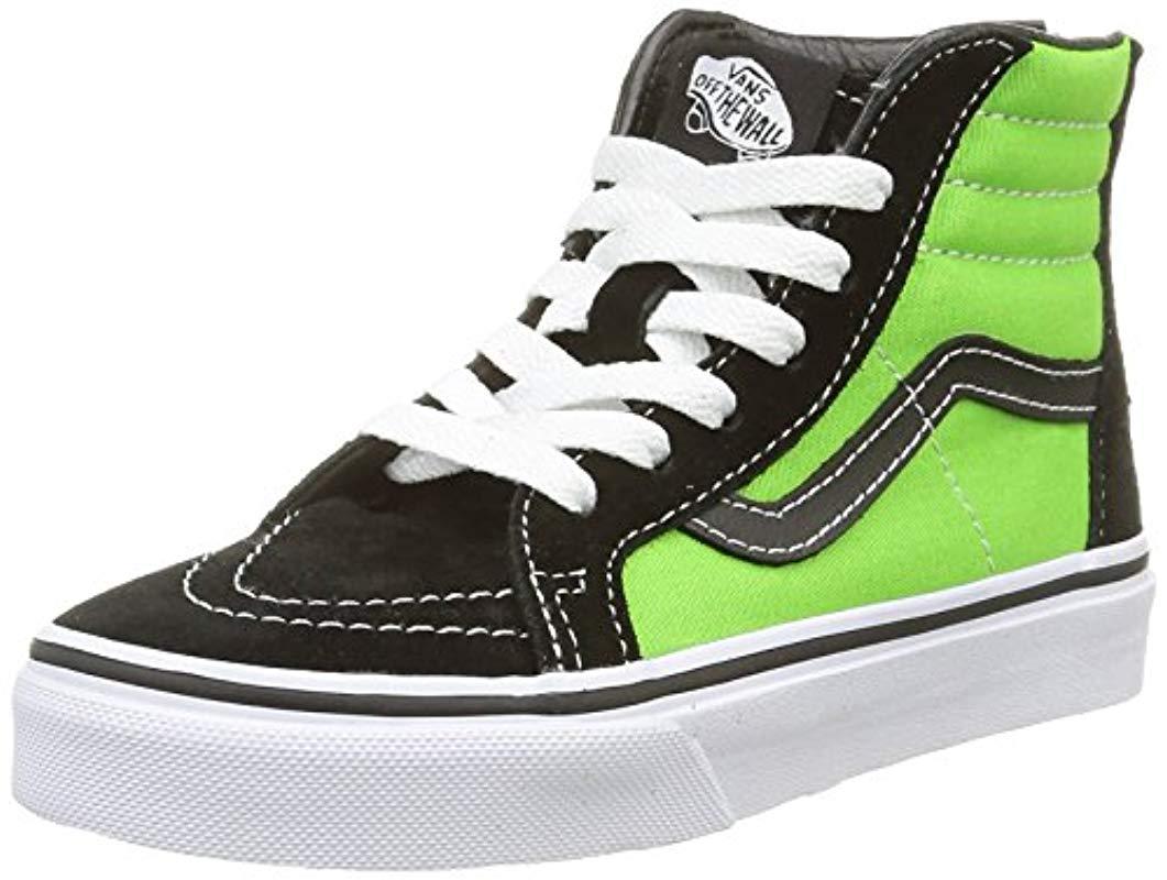 c901bd182f6ac5 Vans Unisex Adults  Sk8-hi Slim Zip Hi-top Sneakers in Green - Lyst