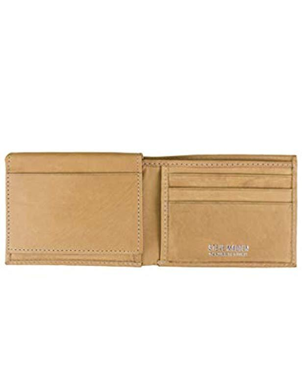 10ea653883 Lyst - Steve Madden Leather Rfid Wallet Extra Capacity Attached Flip Pocket  for Men