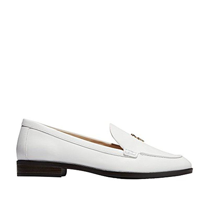 869c69480b1 Lyst - Cole Haan Pinch Lobster Loafer Flat in White