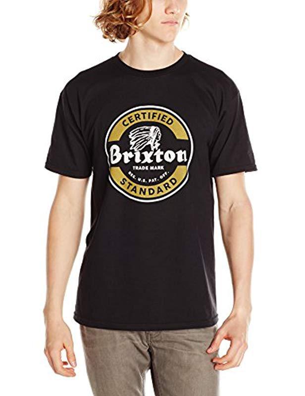 614fae11d Lyst - Brixton Soto Short Sleeve Standard T-shirt in Black for Men