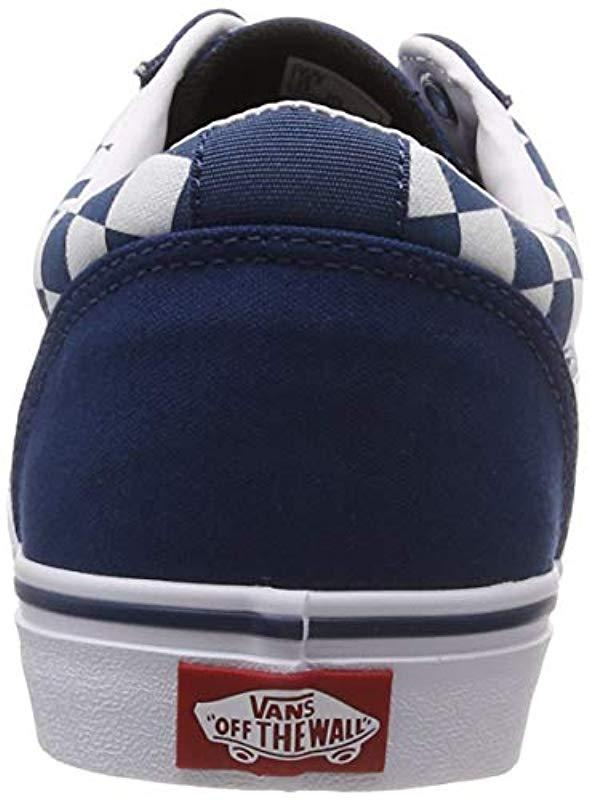 e0f4019fb0 Vans - Blue Ward Canvas Trainers for Men - Lyst. View fullscreen