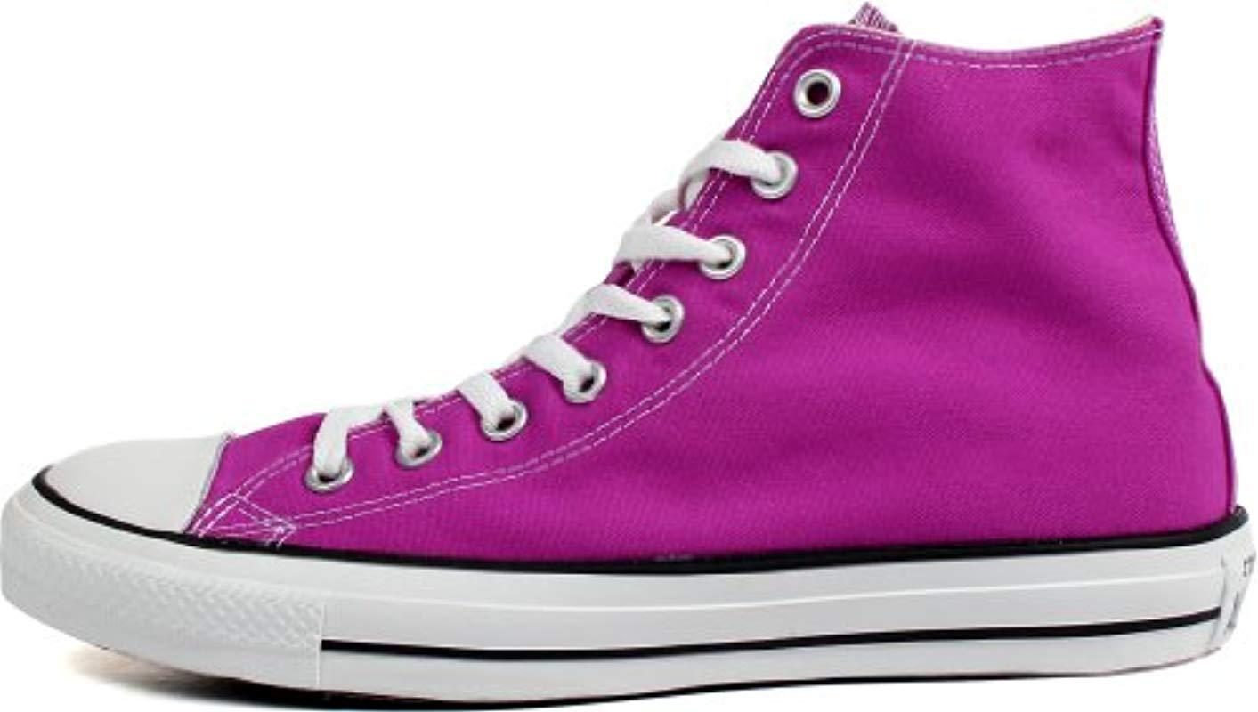 4bb18b5941fe Converse - Purple Chuck Taylor All Star Season Hi Trainers - Lyst. View  fullscreen