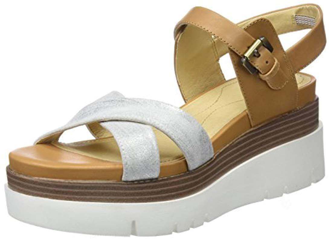 e22eb89f70c Geox D Radwa C Platform Sandals in Brown - Lyst