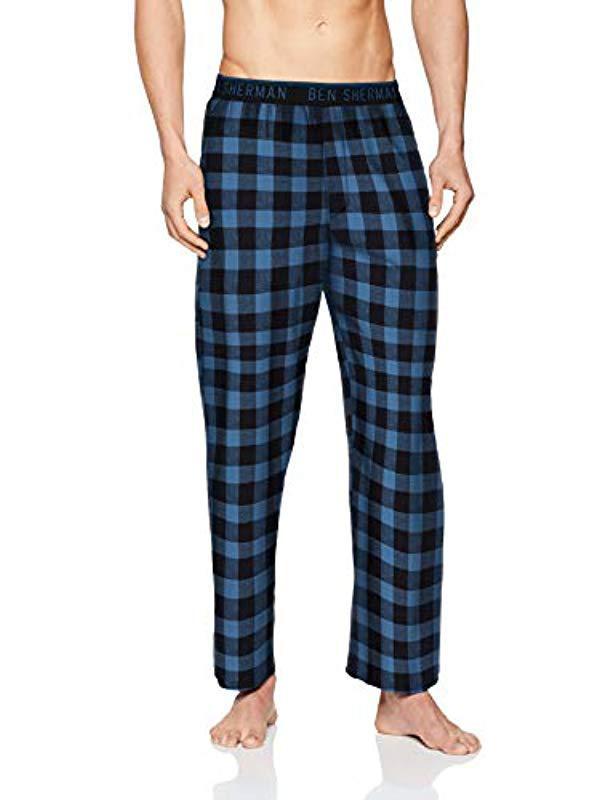 Ben Sherman Babson Pyjama Bottoms in Blue for Men - Lyst