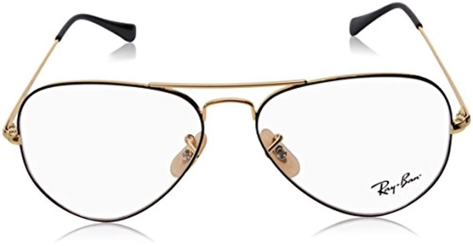 24554239992cb Ray-Ban - Metallic Rx6489 2945 58 Aviator Glasses In Silver Rx6489 2945 58  -. View fullscreen