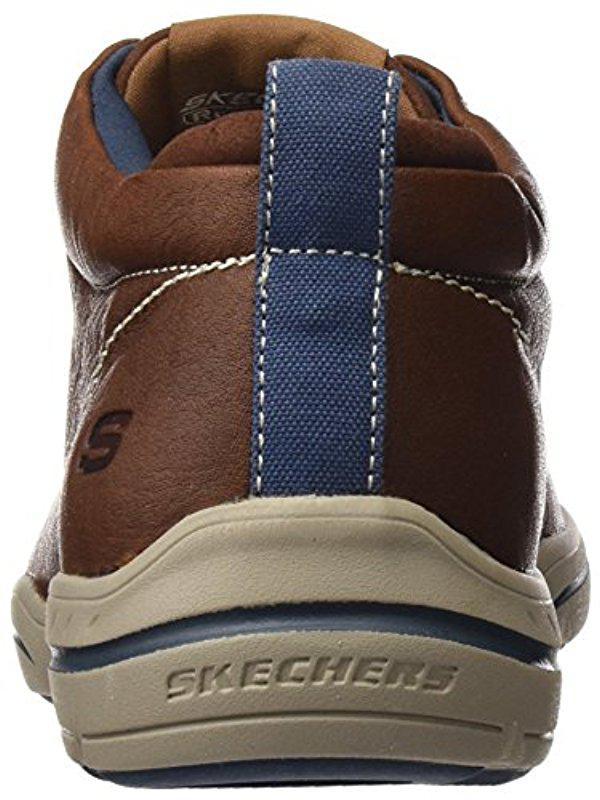 48d4b2c07bef Lyst - Skechers Usa Harper Meldon Chukka Boot in Brown for Men - Save 15%