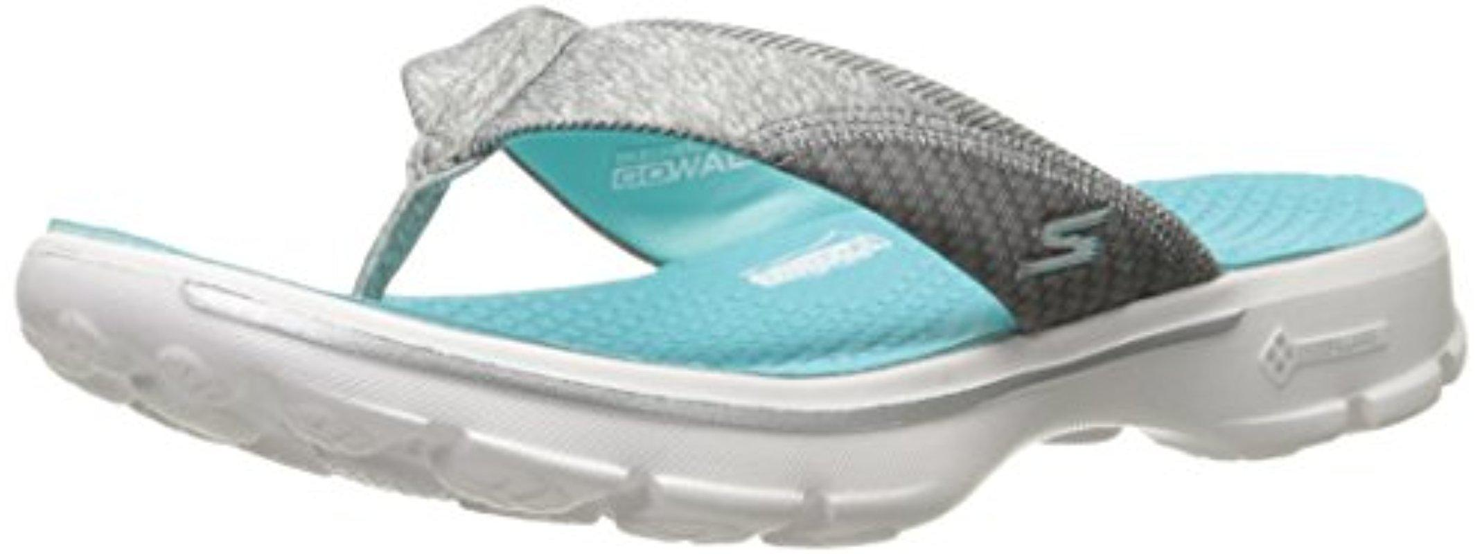 180a30fbe4ee Lyst - Skechers Performance S Go Walk Pizazz Flip-flop in Gray