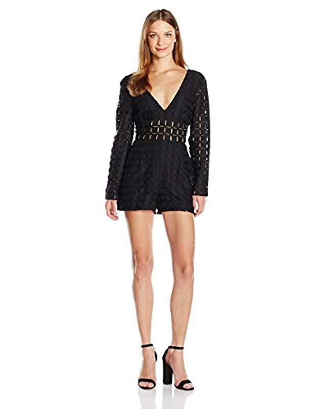 7a272fa4eff Lyst - Minkpink Rumour Has It Playsuit in Black