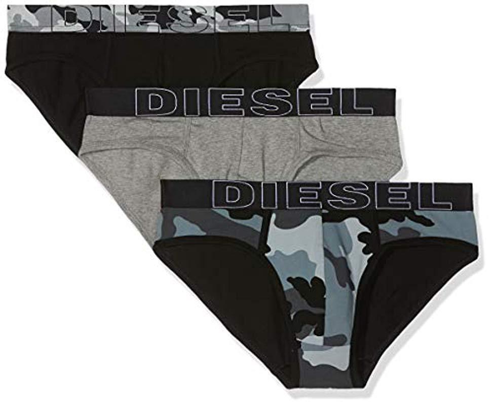 3beb8a9d8d7c DIESEL Umbr-andrethreepack Brief 3pack in Black for Men - Lyst