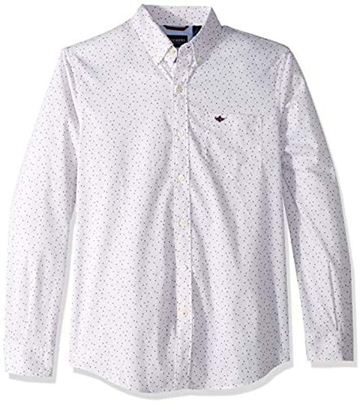 f379f3c60f5 Dockers. Men s White Comfort Stretch No Wrinkle Long Sleeve Button Front  Shirt