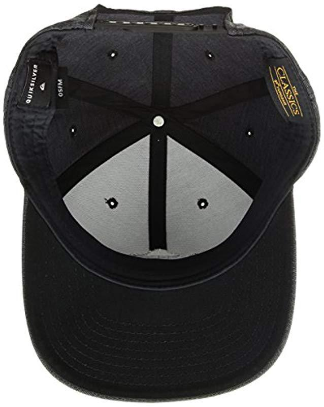 67a908d8824c96 ... hot lyst quiksilver union heather sb trucker hat in black for men fee97  807c9