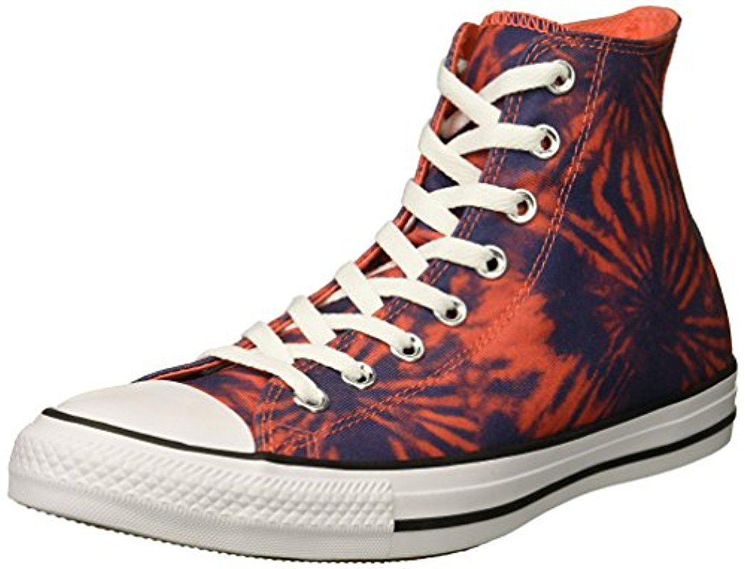 Converse CHUCK TAYLOR ALL STAR TIE DYE - High-top trainers - rush coral/navy/white OghwGXgt26