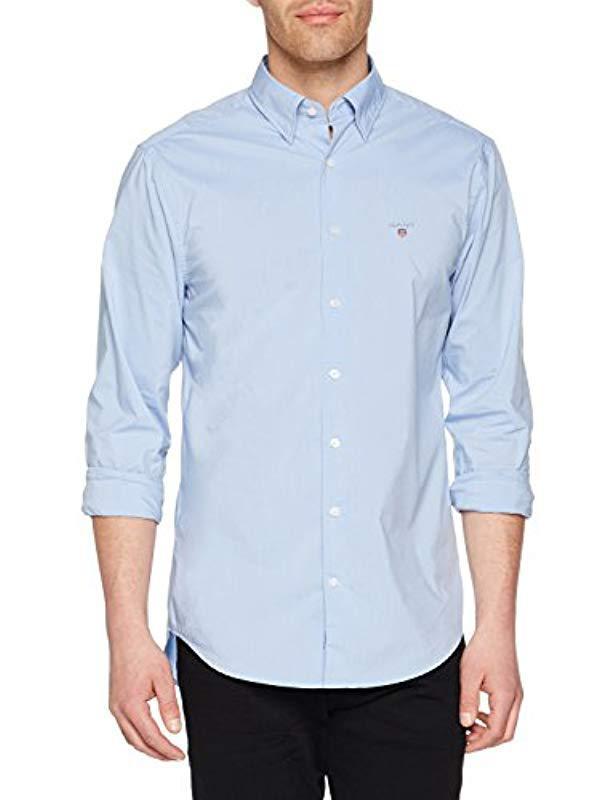 3eb72dddc18 GANT Tech Prep Regular Broadcloth Shirt Casual in Blue for Men - Lyst